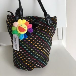 Pouch bag handbag rainbow polka dot